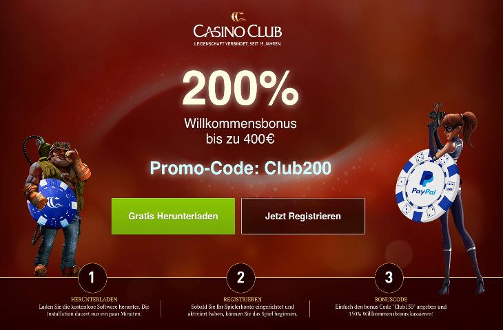 CasinoClub_Bonus_200_Prozent_bis_400_Euro