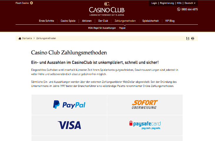 CasinoClub_Zahlungsmethoden