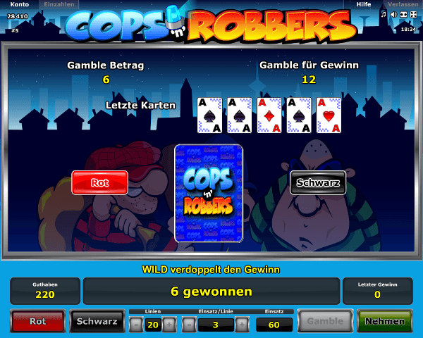 online casino trick cops and robbers slot