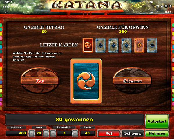 Novoline_Katana_Gambling