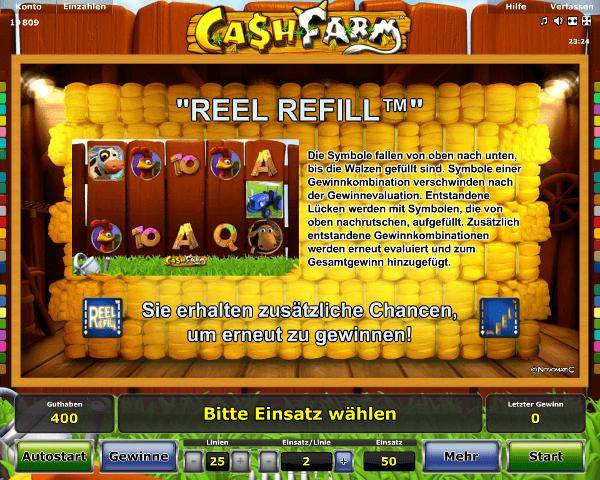 Cash Farm Reel Refill