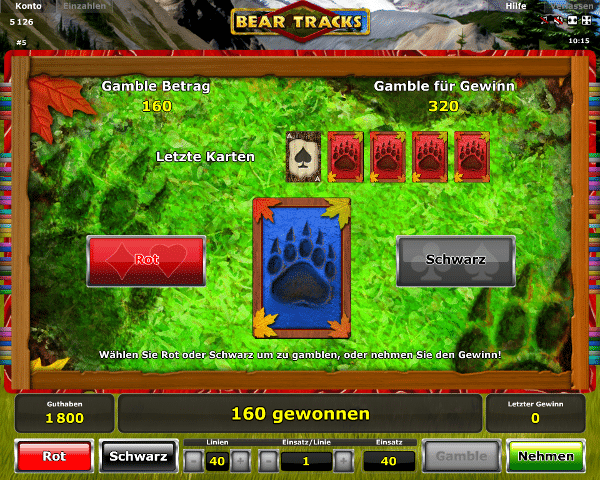 bear tracks spielen