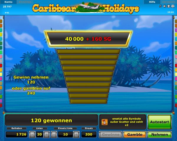 Caribbean Holidays Gambling Funktion