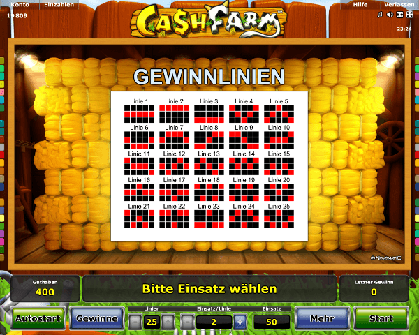 Cash Farm Gewinnlinien