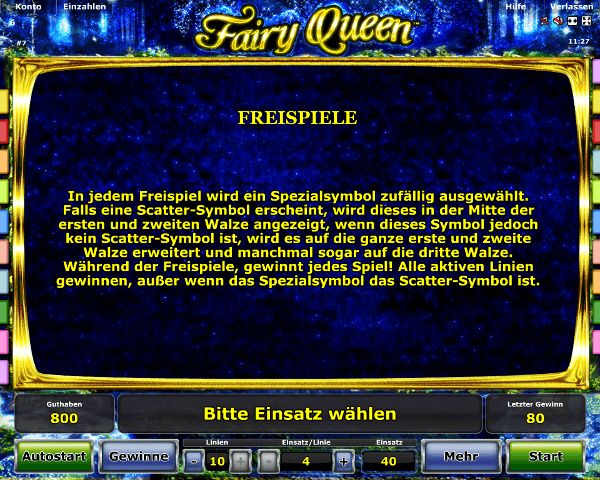 Fairy Queen Freispiele