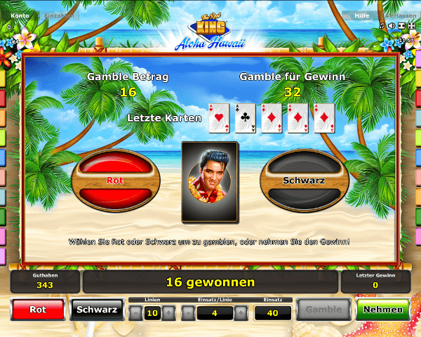 The Real King Aloha Hawaii Gambling Funktion