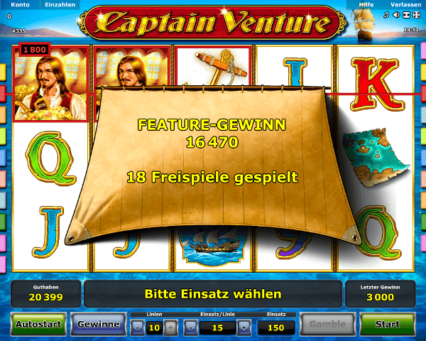 Captain Venture Bonus Feature