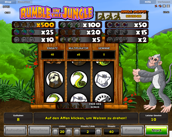 Rumble in the Jungle Monkey Bonus