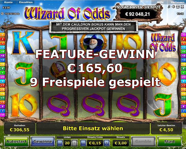 Wizard of Odds Wizard Hat Bonus