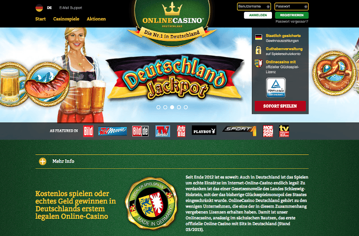 Player Registration at OnlineCasino Deutschland OnlineCasino Deutschland