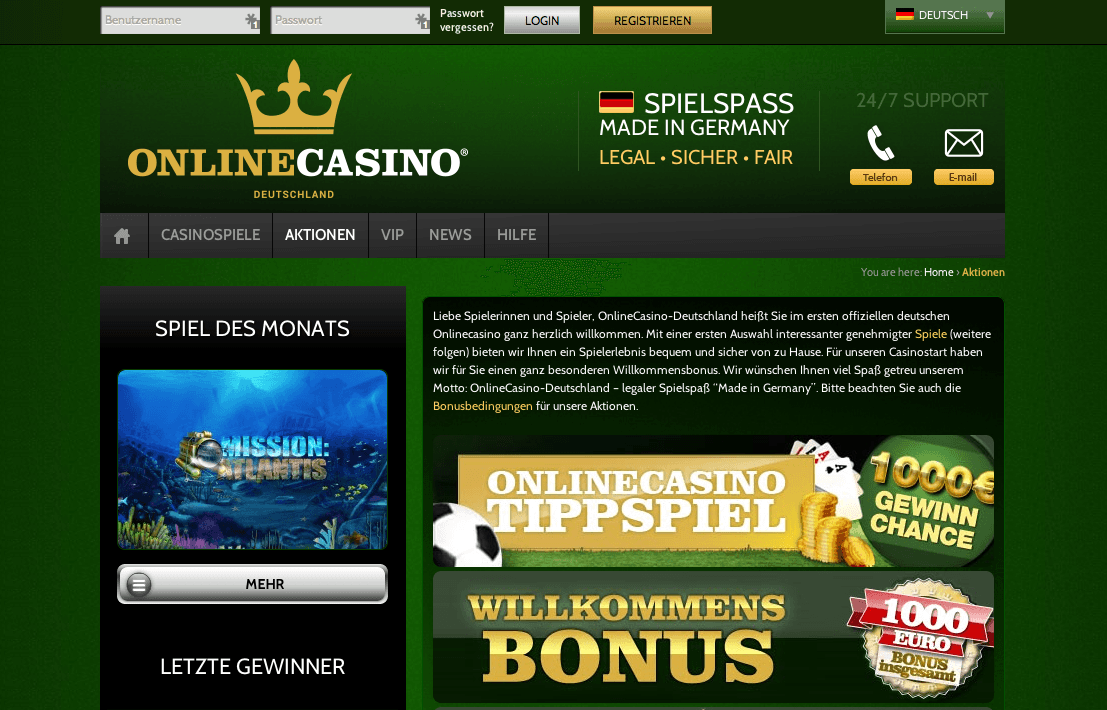 online casino deutschland lord of ocean