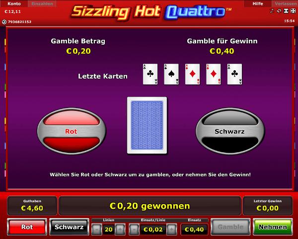 Sizzling Hot Quattro Gambling