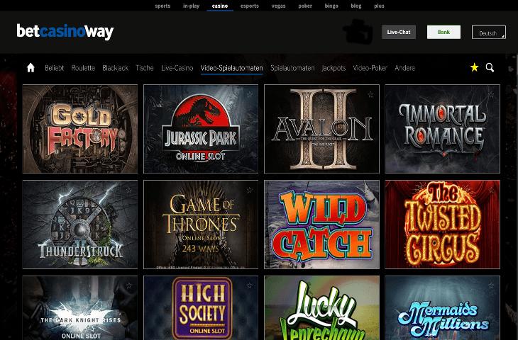 Betway_Casino_Spielautomaten