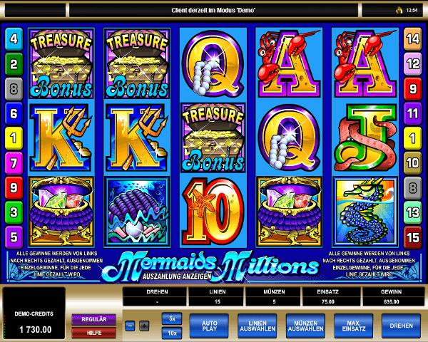 Mermaids Millions Spielautomat