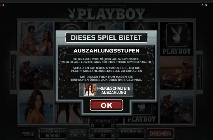 Playboy Auszahlungsstufen