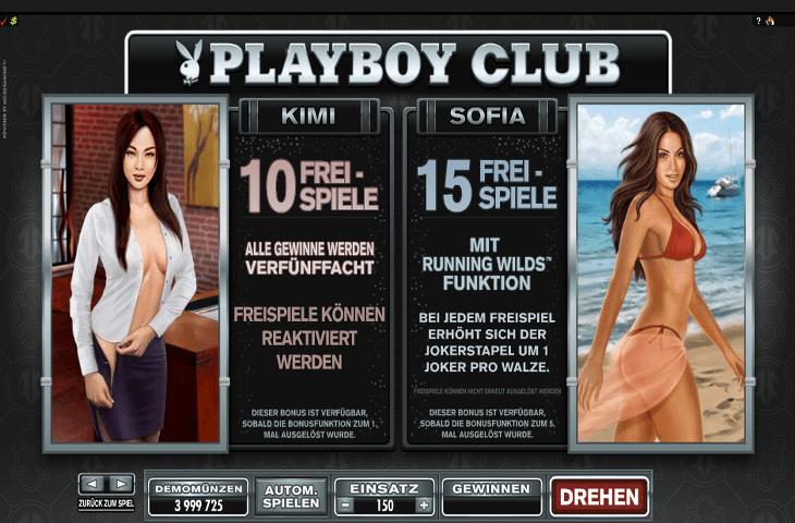 Playboy Kimi und Sofia Freispiele