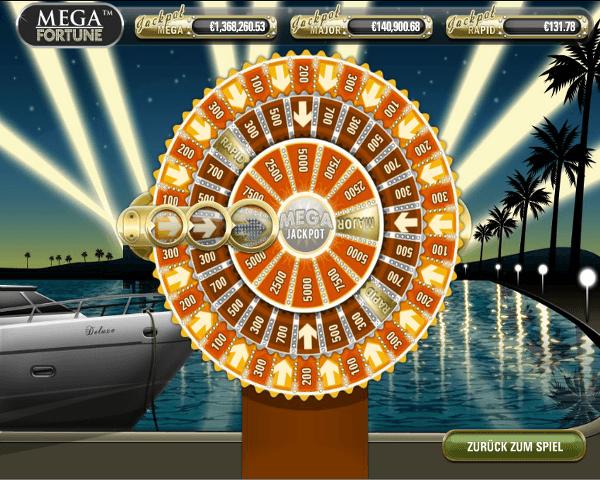 Mega Fortune Jackpot Spiel