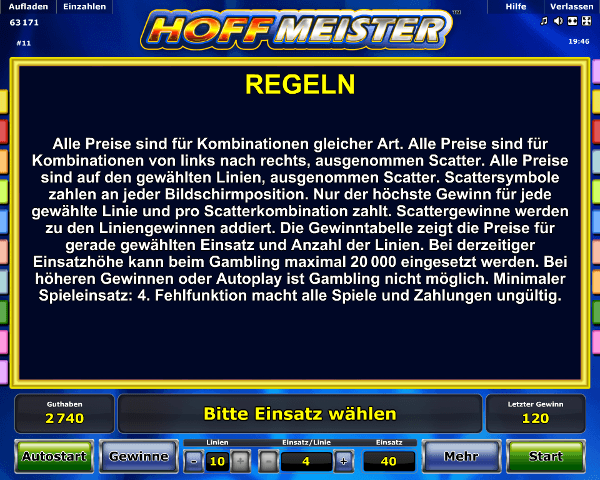 Hoffmeister Regeln