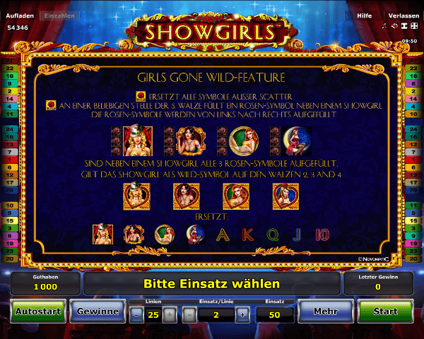 Showgirls Wild Feature