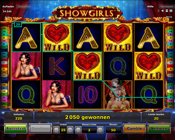 Showgirls Spielautomat