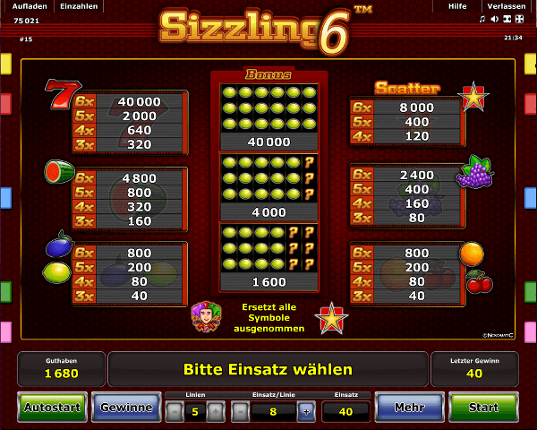 online casino germany sizzling