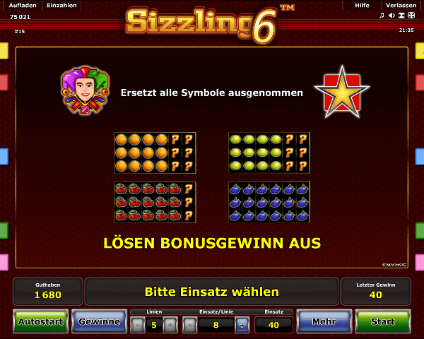 sizzling online casino