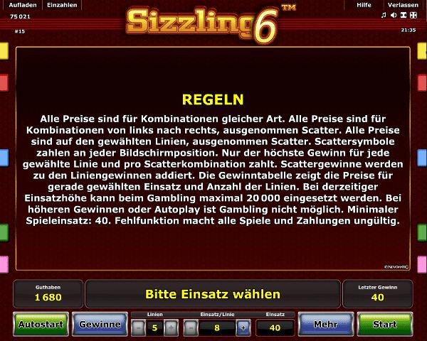 online casino trick sizzling online