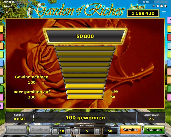 Garden of Riches Gambling
