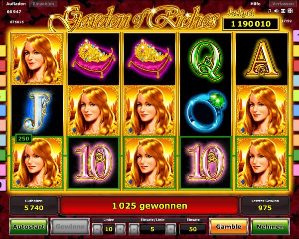 Garden of Riches Spielautomat