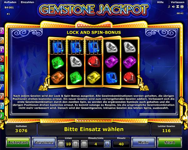 Gemstone Jackpot Lock & Spin