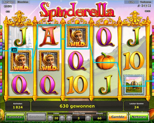 Spinderella Spielautomat