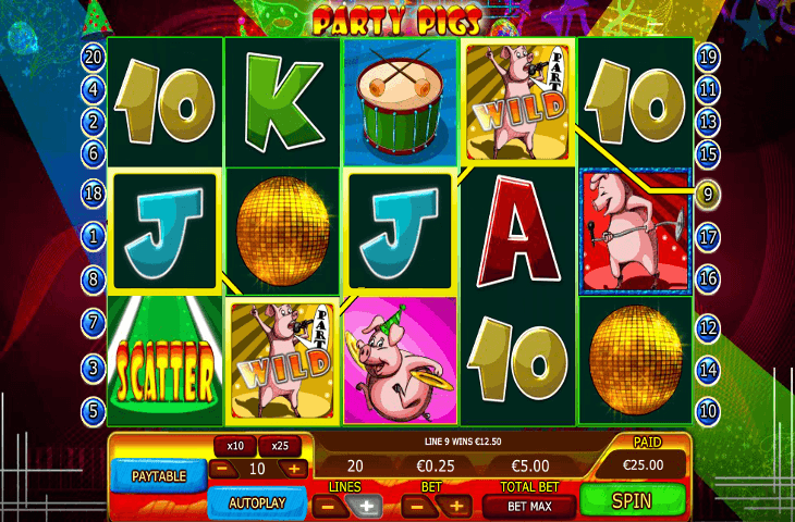 888casino_Party_Pigs_Spielautomat