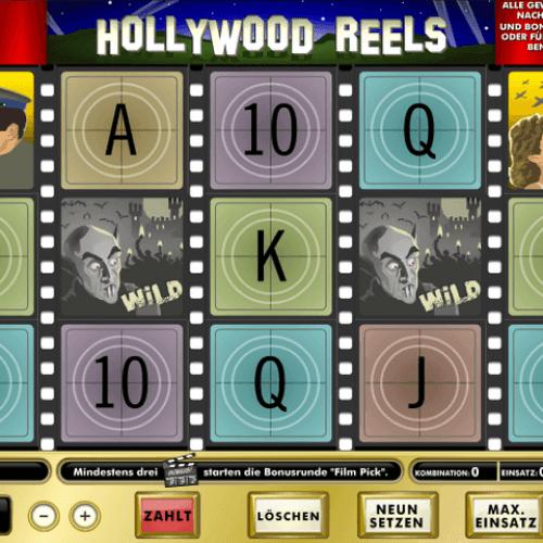 Playing slot machine at casino