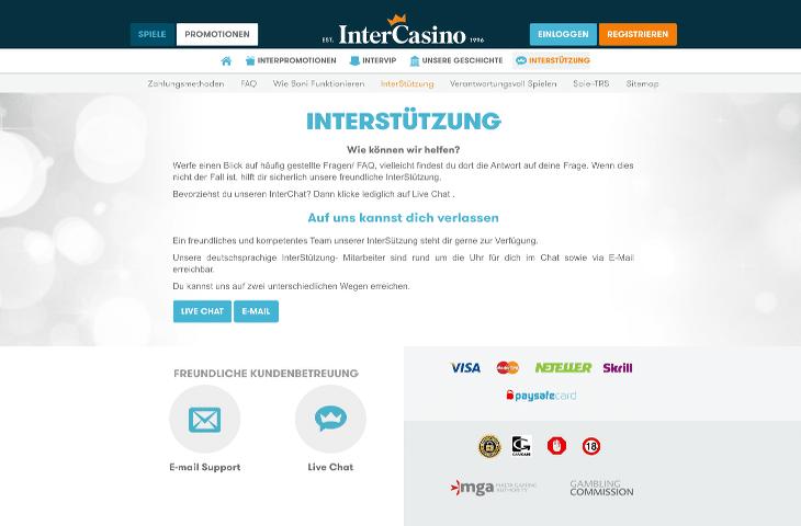 InterCasino_Interstützung
