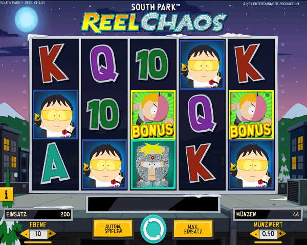 South Park Reel Chaos Spielautomat von Net Entertainment