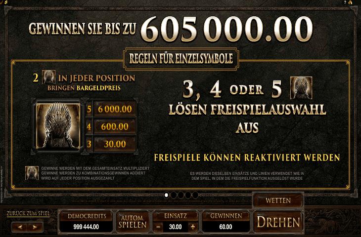 Game of Thrones Gewinnen Sie bis zu 605000 Euro
