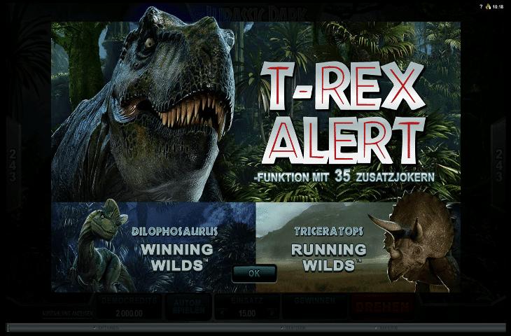Jurassic Park Spielautomat von Microgaming