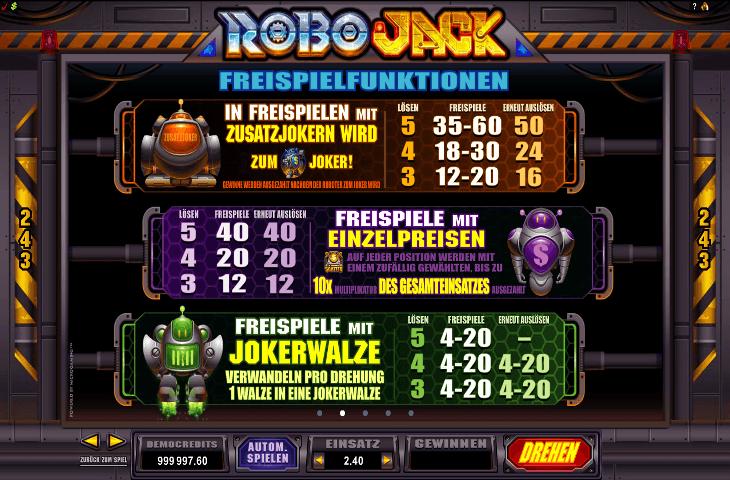 RoboJack Freispielfunktion1