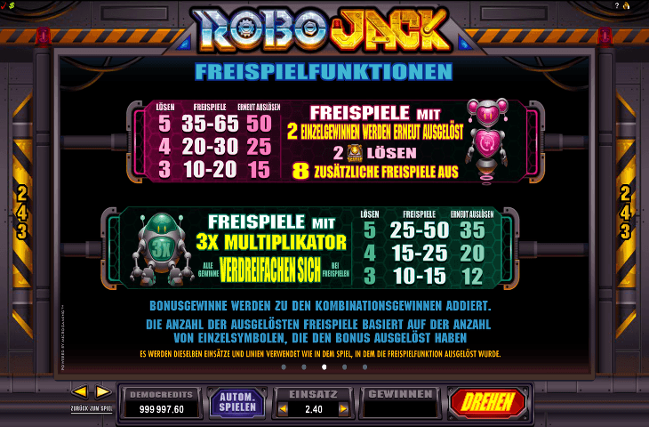 RoboJack Freispielfunktion2