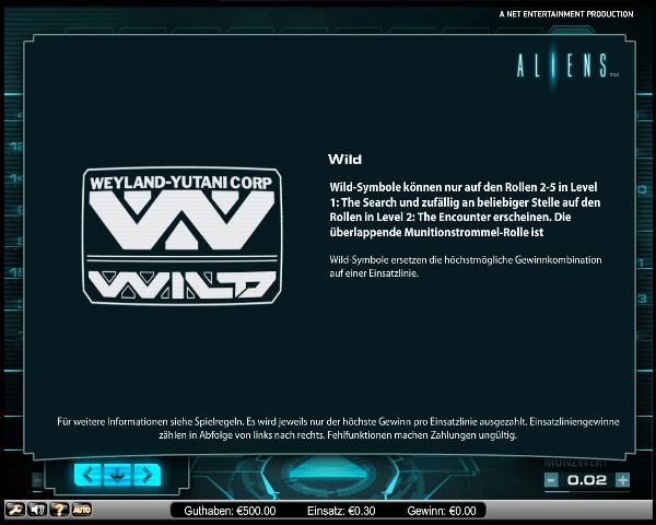 Aliens Wild-Symbol