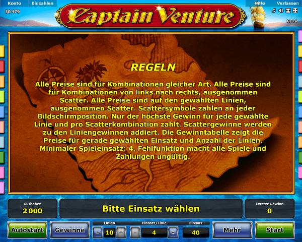 Captain Venture Regeln