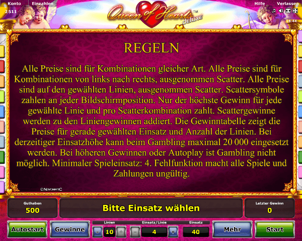 Queen of Hearts Regeln