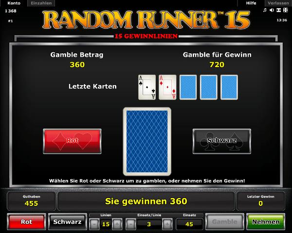 Random Runner 15 Gambling
