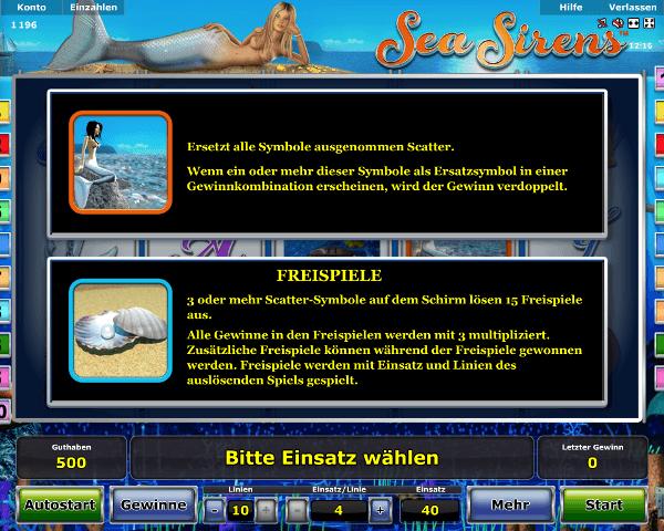 Sea Sirens Freispiele