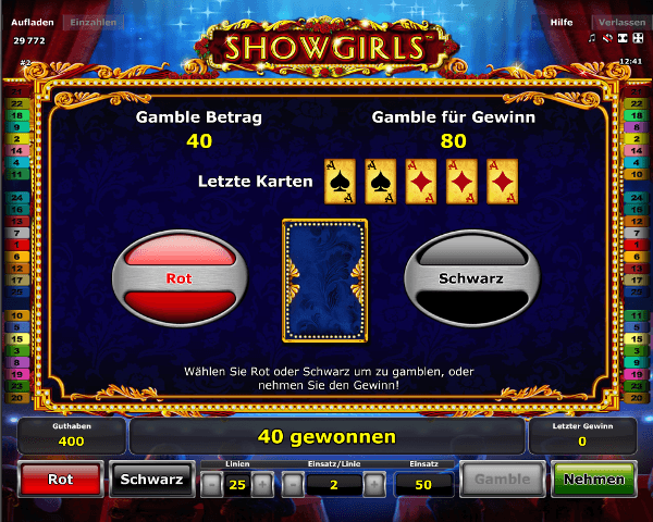 Showgirls Gambling