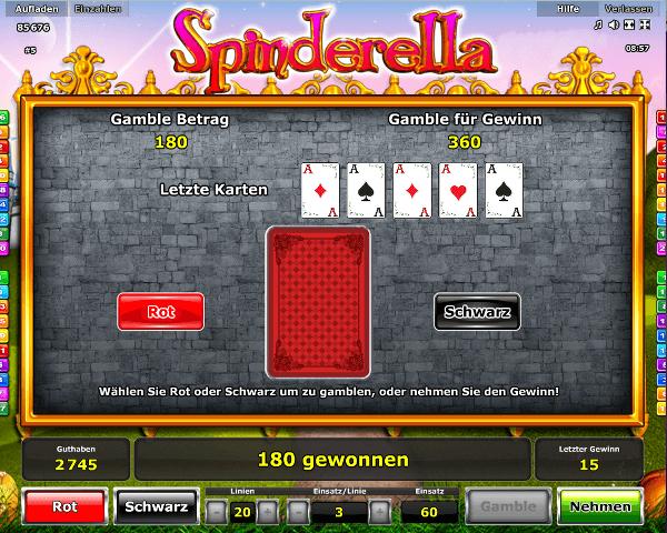 Spinderella Gambling