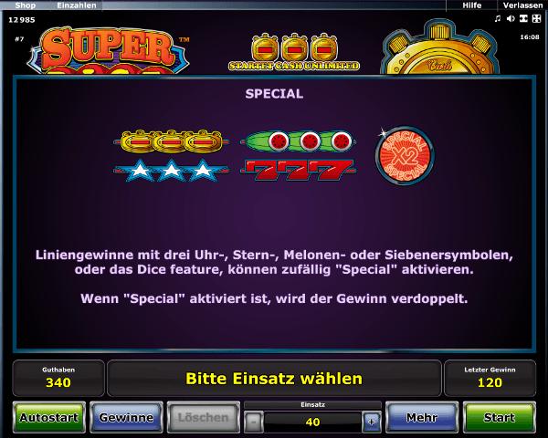 Super Dice Special