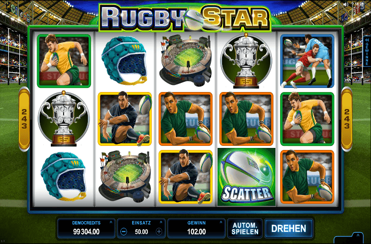 Rugby Star Spielautomat