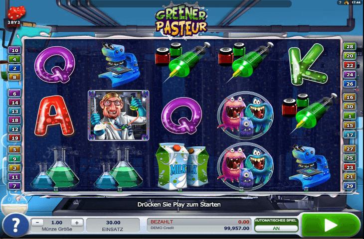 Greener Pasteur Spielautomat