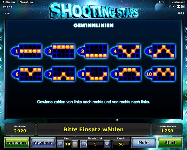 Novoline_Shooting_Stars_Gewinnlinien